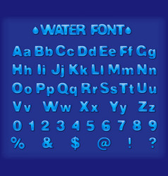 blue water font vector image
