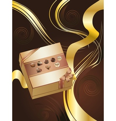 Brown Background with Chocolate Box2 vector
