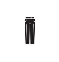 business pants black concept icon business vector image