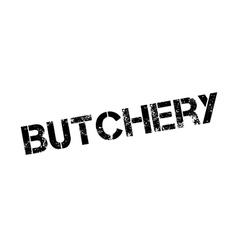 Butchery rubber stamp vector