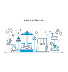 children s entertainment playground sandbox vector image