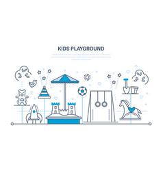 children s entertainment playground sandbox vector image