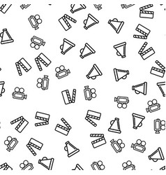 cinematography production seamless pattern vector image