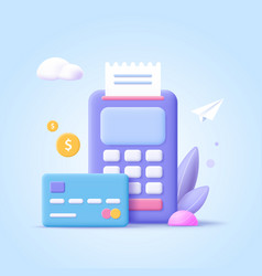 concept payment processing financial vector image