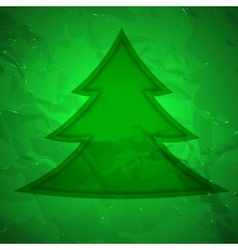 Creative christmas tree with texture vector