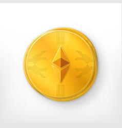 Crypto currency golden coin vector