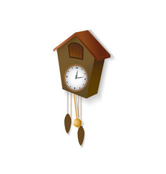 Cuckoo clock on a white background vector
