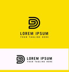 dg abstract letter brand monogram logo template vector image