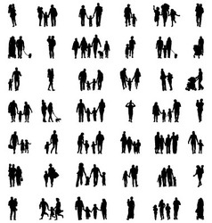 families in walking vector image