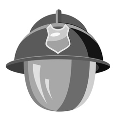 Firefighter helmet with mask icon vector