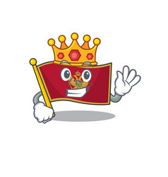 Flag montenegro cartoon with in king character vector