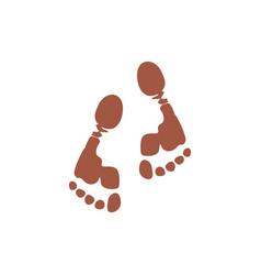 foot print in mud natural life symbol logo vector image