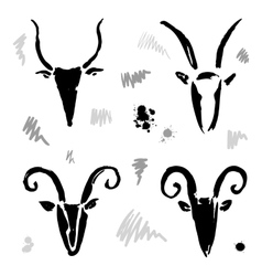 Goat 2015 set New year Symbol vector