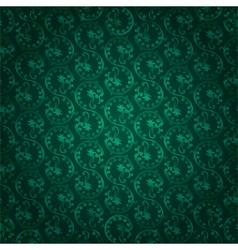 Green vintage floral seamless pattern vector image vector image