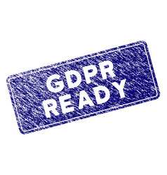 Grunge textured gdpr ready rounded rectangle stamp vector