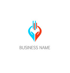 hands keep abstract business logo vector image