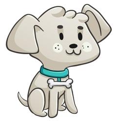 Happy Little Dog Sitting vector