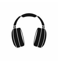 Headphones icon simple style vector