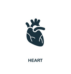 heart icon premium style design from healthcare vector image