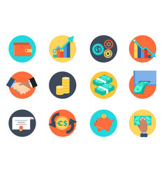icon for bussinessman or bussiness management vector image