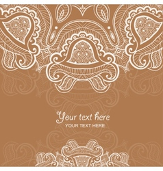 Invitation card with lace ornament vector