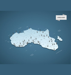 Isometric 3d africa map concept vector