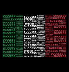 Italy flag mosaic of success texts vector