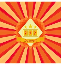 jackpot and sevens vector image
