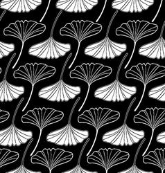 Leaf gingko sketch doodle set 2 black vector