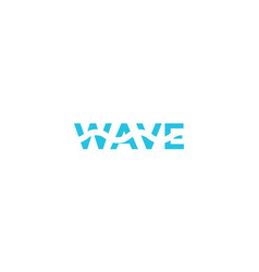 Letter wave with water logotype logo icon design vector