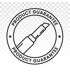 Lipstick cosmetic product guarantee stamp label vector