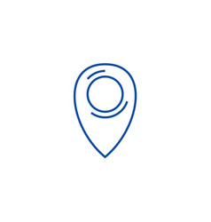 local pointer line icon concept local pointer vector image