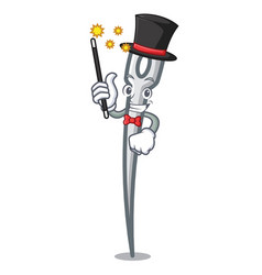 Magician needle mascot cartoon style vector