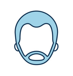 man avatar face male profile image vector image