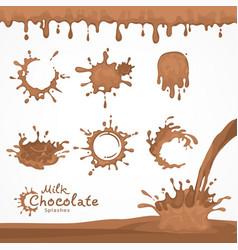 Milk chocolate blots vector