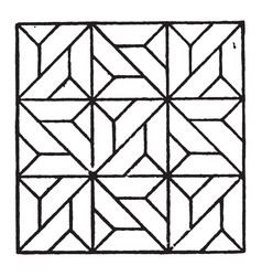 modern square panel is a parquetry design of a vector image