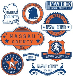 Nassau county New York vector image