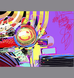 Original digital abstract painting contemporary vector