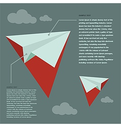 Paper Rocket create of design vector image