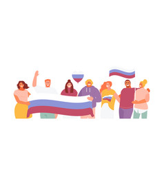 People celebrating day russia vector