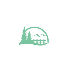 pine tree nature mountain logo vector image