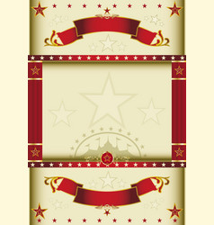 poster cream circus vector image