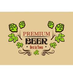 Premium beer banner or emblem vector image