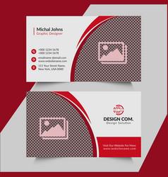 Real estate business card design vector