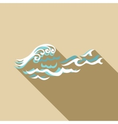 Round wave icon flat style vector image