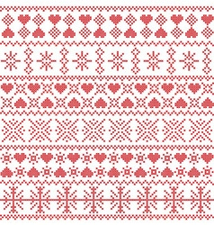 Scandinavian Nordic style winter pattern vector
