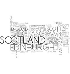 scotland word cloud concept vector image