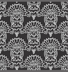 seamless aztec pattern vector image