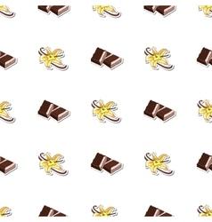 Seamless Pattern Chocolate Vanilla vector image