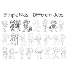 set of doodle character vector image